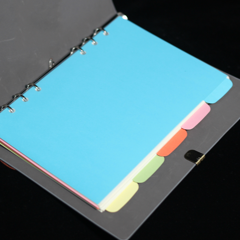 A5 Notebook Spiral Filler Papers Index Page Loose-leaf Paper Core  Hand Book Classification Separate Sub-page Planner Refill