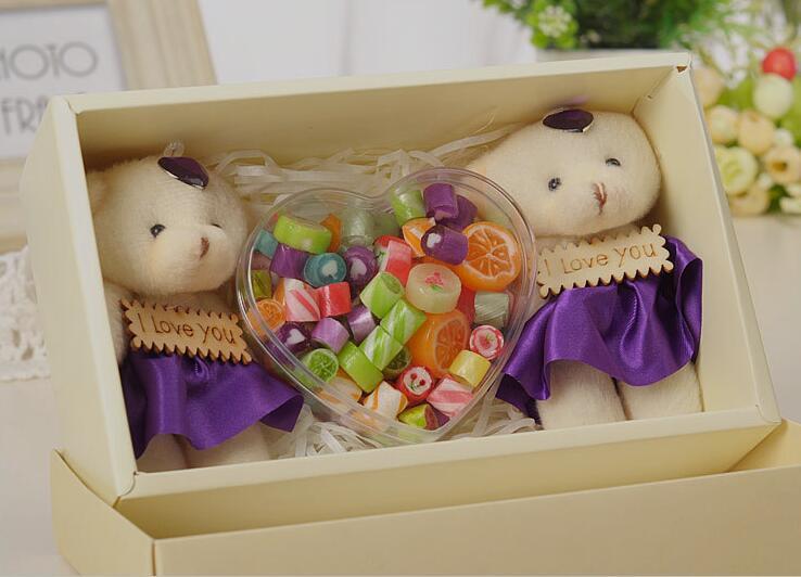 12 pièces de qualité alimentaire clair coeur en plastique boîte à bonbons Transparent faveurs de mariage et cadeaux de mariage boîte à bonbons événement fête fournitures - 6