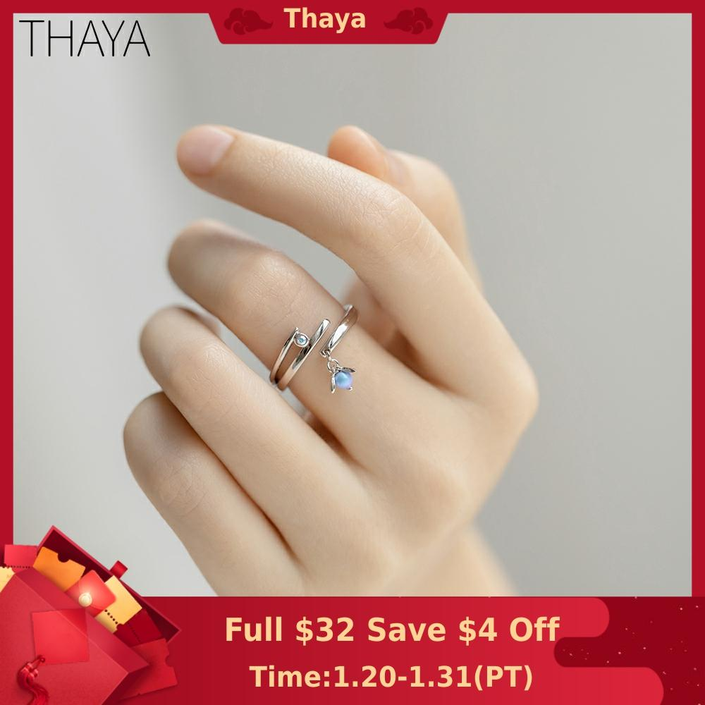 Thaya Midsummer Night's Dream Design Rings Vintage Colored Pearls S925 Sterling Silver Jewelry Ring For Women