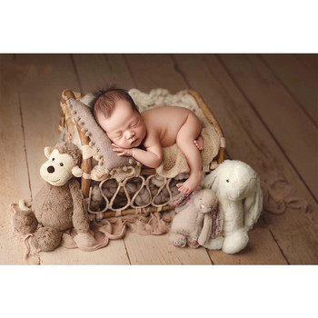 New Newborn Photography Props Vintage Woven Rattan Basket Baby Photo Shooting Props Frame Photo Studio Kids Toys for Children 1