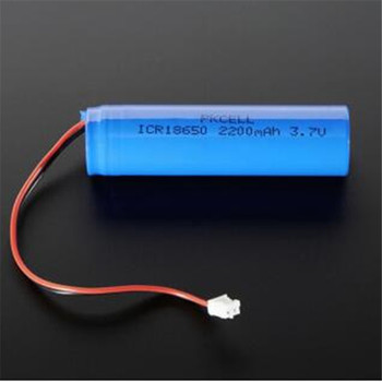 100Pcs PKCELL ICR18650  3.7V 2200mAh Li-ion Rechargeable Battery 26# UL1007 JST-PHR-2P Reverse plug Dual MOS protection board