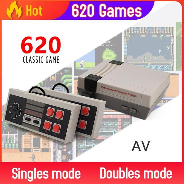内蔵500/620ゲームミニテレビゲームコンソール8ビットレトロクラシックな携帯ゲームプレーヤーav/hdmi出力ビデオゲームコンソールのおもちゃ
