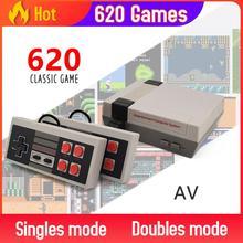 Built in 500/620 jogos mini tv game console 8 bit retro clássico handheld jogador de jogos av/hdmi saída de vídeo game console brinquedo