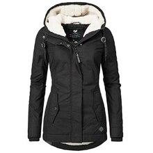 DUUTI Women Parka Coat Winter New Hooded Thicken Cotton Outdoor Warm Jacket Ladi