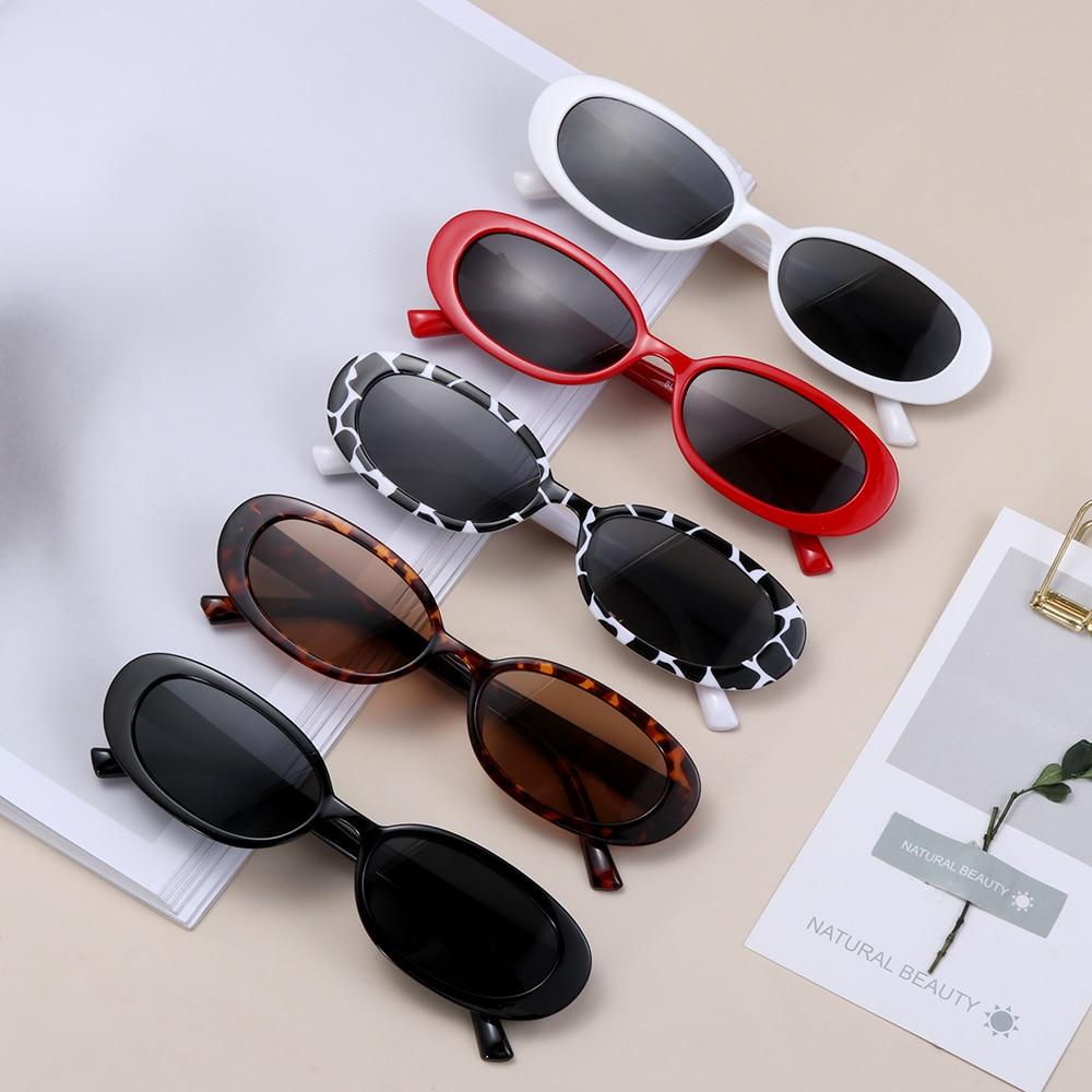 Очки солнцезащитные унисекс в стиле ретро, модные трендовые винтажные овальные солнечные очки с маленькой оправой, с поляризационными зате...