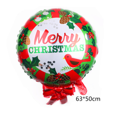 Merry Christmas Foil Balloon Santa Claus Snowman Tree Balloon for Christmas New Year Party Air Balls DIY Decoration Set Supplies
