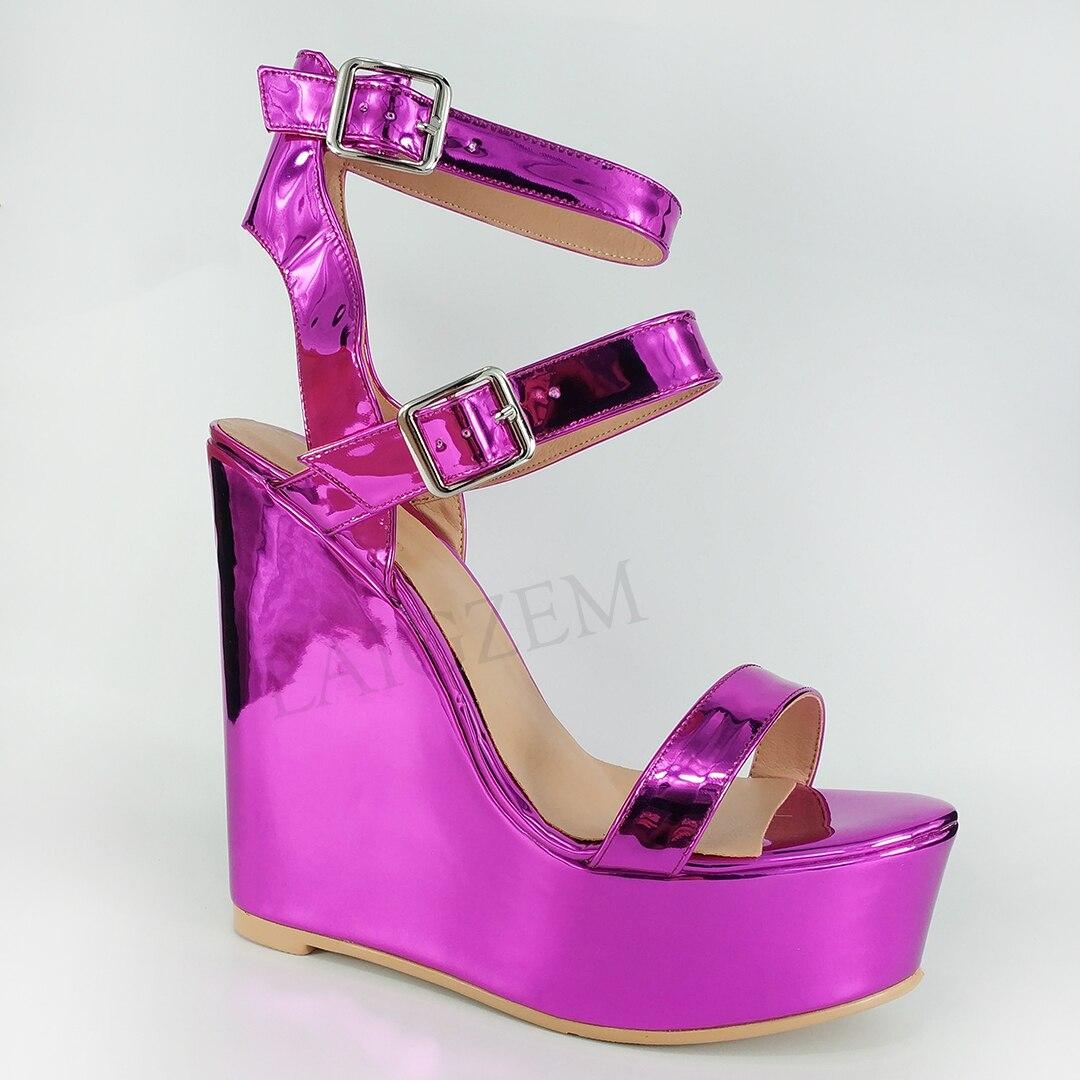 LAIGZEM Women Sandals Platform Wedges