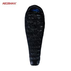 Image 3 - AEGISMAX G Winter 95% أوزة أسفل كيس النوم 15D نايلون مقاوم للماء FP800 دافئ الراحة في الهواء الطلق التخييم 22 ℃ ~ 10 ℃ كيس النوم