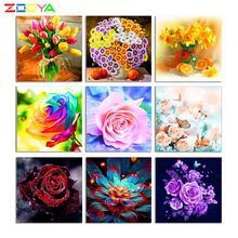 Zooya 5d diy ваза с цветочной композицией из страз вышивка крестиком