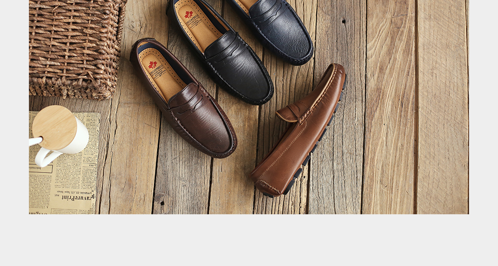 H27fb3c1d2d8641a2a3a0f02a52e8814d7 Men's Casual Shoes Men Moccasins Autumn Fashion Driving Boat Shoes Male Leather Brand Slip-On Classic Men's shoes Loafers