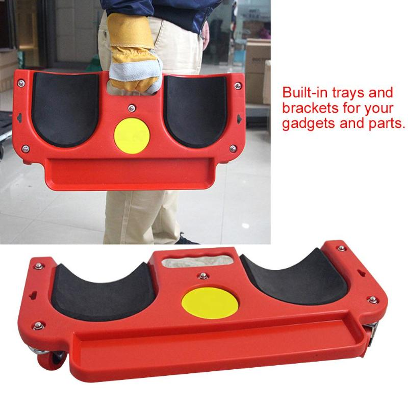 Rolling Knee Protection Pad Wheel Built in Foam Padded Laying Creeper Platform Universal Multi-functional Wheel Kneeling Pad