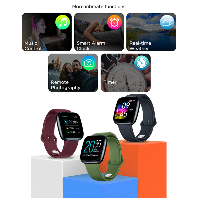 [Value King] New Zeblaze Crystal 3 Smartwatch WR IP67 Heart Rate Blood Pressure Long Battery Life IPS Color Display Smart Watch 5