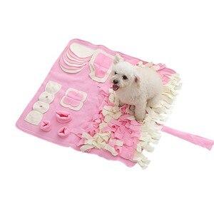 Zwierzęta mata treningowa koc pies składany można prać w pralce Sniffing Pad przekąska znalezienie karmienie mata do zabawy artykuły zabawkowe