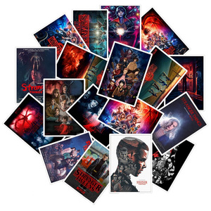 Image 1 - 50Pcs/Lot Newly TV Series Stranger Things 3 Stickers For Laptop Motorcycle Skateboard Luggage Decal Toy DIY Sticker