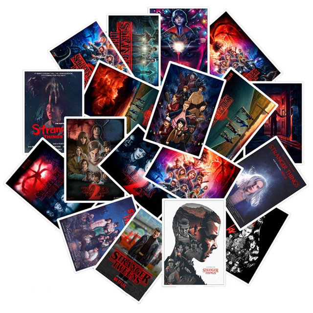 50Pcs/Lot Newly TV Series Stranger Things 3 Stickers For Laptop Motorcycle Skateboard Luggage Decal Toy DIY Sticker