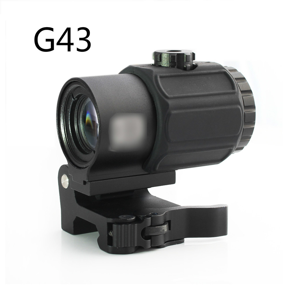 Magorui Tactical G43 3x Magnifier Scope Sight with Switch to Side STS QD Mount Fit for 20mm rail Rifle Gun