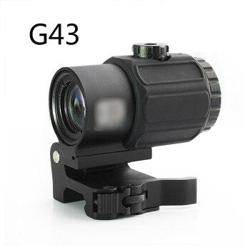 Magorui-lupa táctica G43 3x, visor con interruptor a lado, STS, montaje QD, apto para Rifle de 20mm, pistola de caza táctica