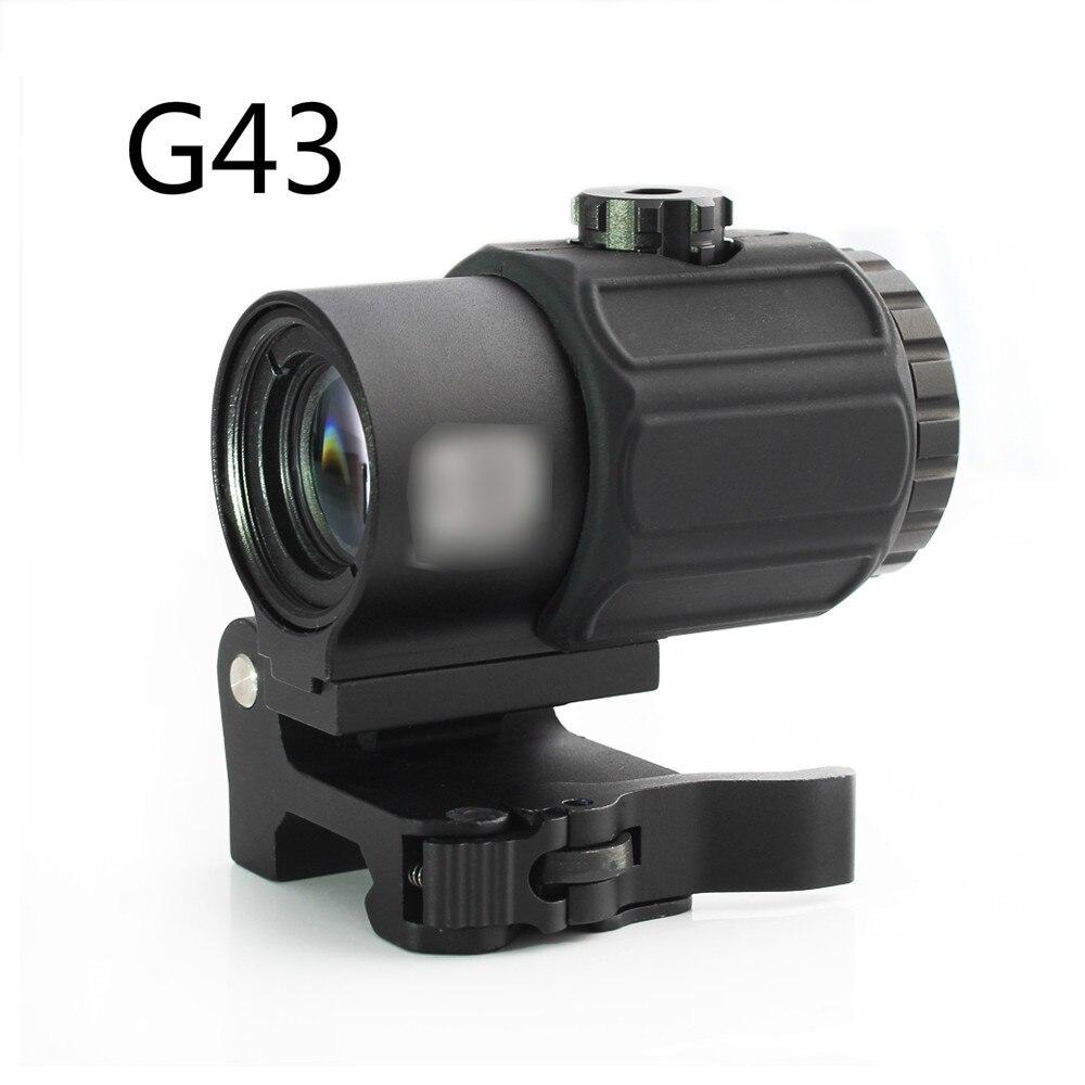 Magorui tactique G43 3x loupe portée vue avec interrupteur sur le côté STS QD montage adapté pour 20mm rail fusil