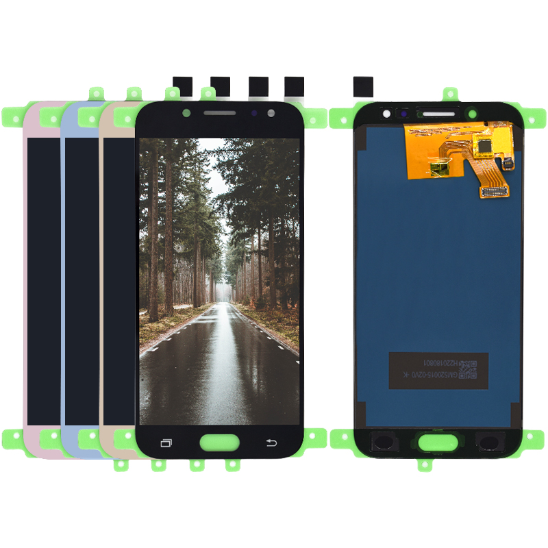 Für <font><b>Samsung</b></font> <font><b>Galaxy</b></font> J5 2017 <font><b>J530</b></font> display SM-J530F <font><b>LCD</b></font> Display und Touch Screen Digitizer Einstellbare Helligkeit Montage Teile image