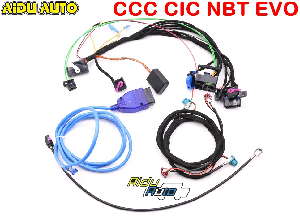 Tools Wirings Harness With CAS Emulator Tester For BMW CCC CIC NBT EVO Navigation Systems Power On Bench All In One