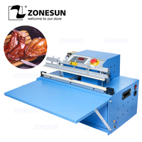 ZONESUN DZ500T Finish Rice Commercial Vacuum Sealer Industrial Vacuum Package Desktop Outside Pumping Vacuum Sealing Machine