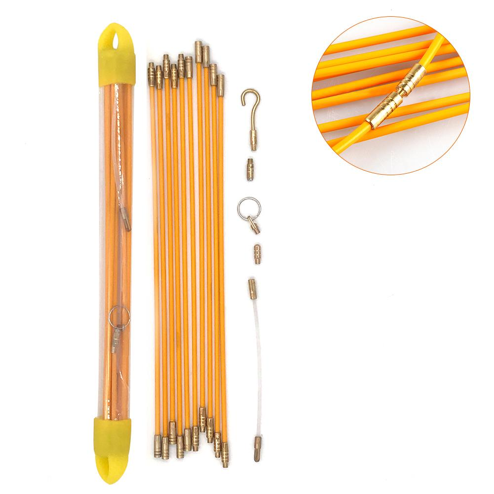 10pcs Glass Fiber Puller Through Wall Wire Diameter 4mm Single Length 33CM Wall Tool Electrical Wire Cable Pulling