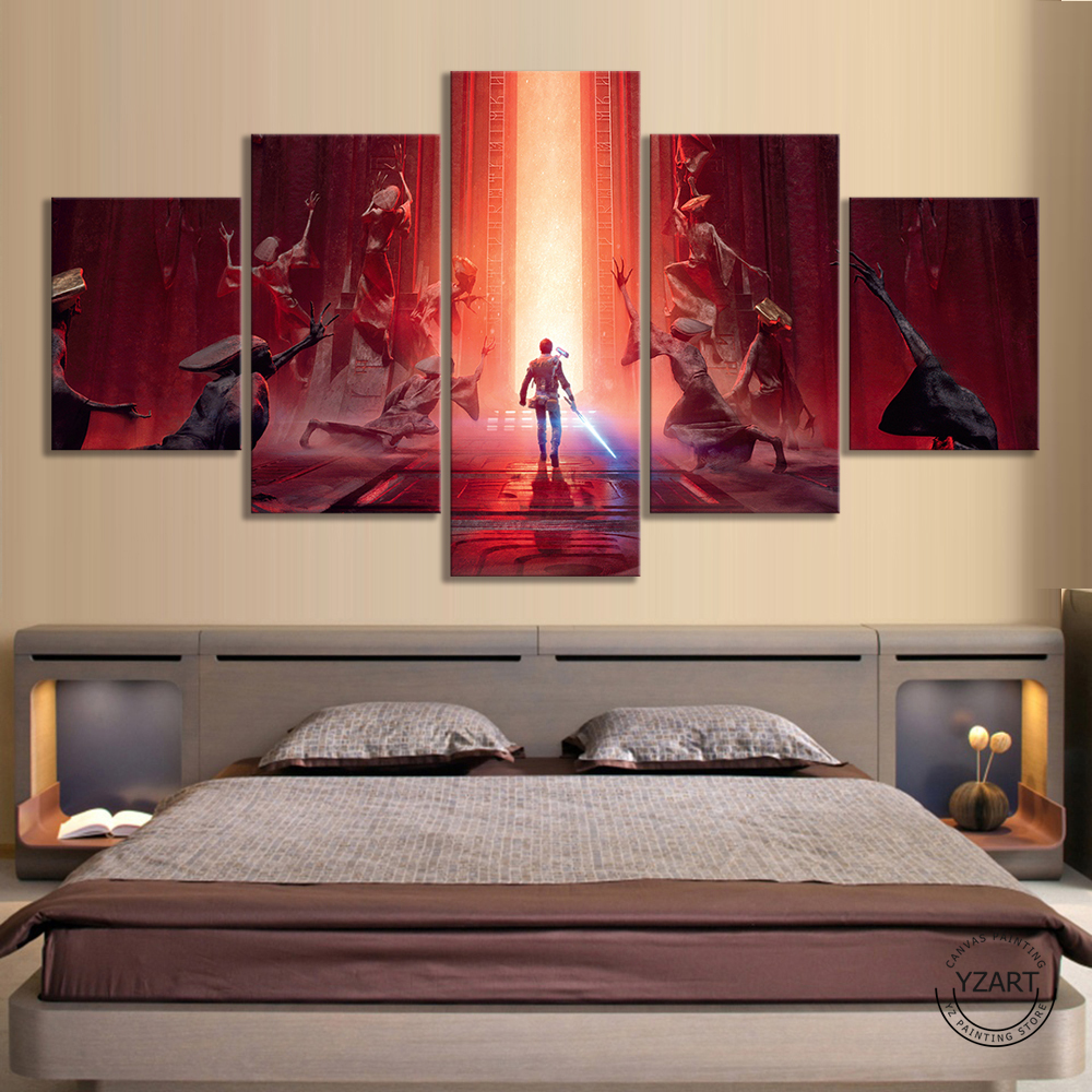 Star Wars Jedi Fallen Order Video Games Art HD Wall Picture for Living Room Decor Star Wars Poster Painting Wall Art image