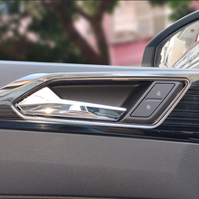 Interieur Auto Deurklink/Bowl Cover Sticker Voor Vw Polo 2019 Auto Styling 4 Pcs Rvs Cover Sticker