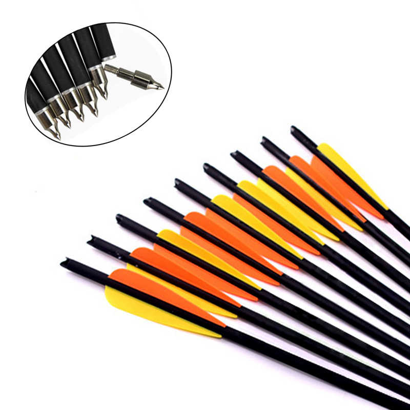 "6//12//24PCs 20/"" Carbon Crossbow Bolts with Changable Tips for bow Hunting Archery"