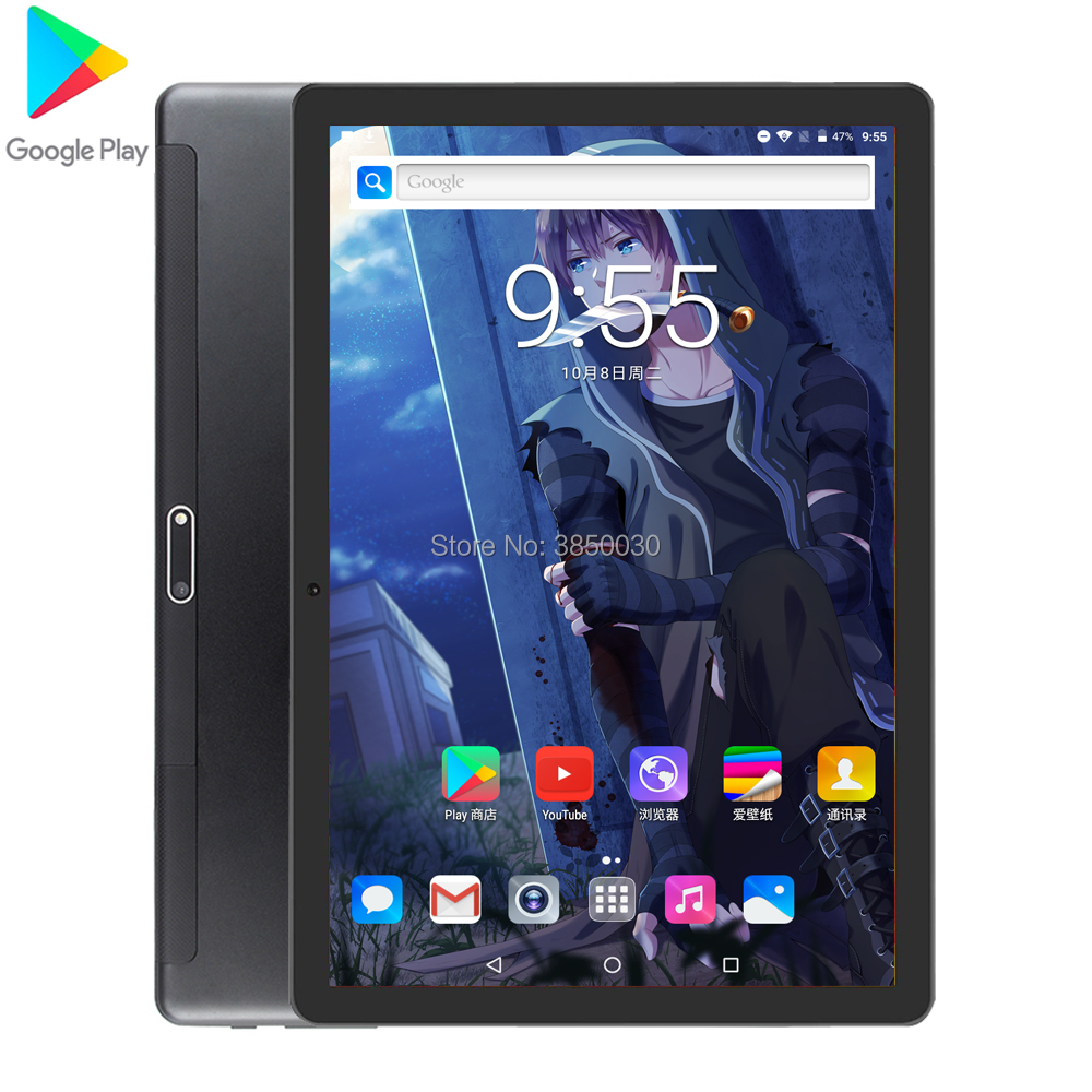 2020 Super Tempered 2.5D Screen 10 Inch Tablet PC Android 9.0 OS  32GB ROM  3G Phone Call Wifi GPS Tablet With Free Gifts