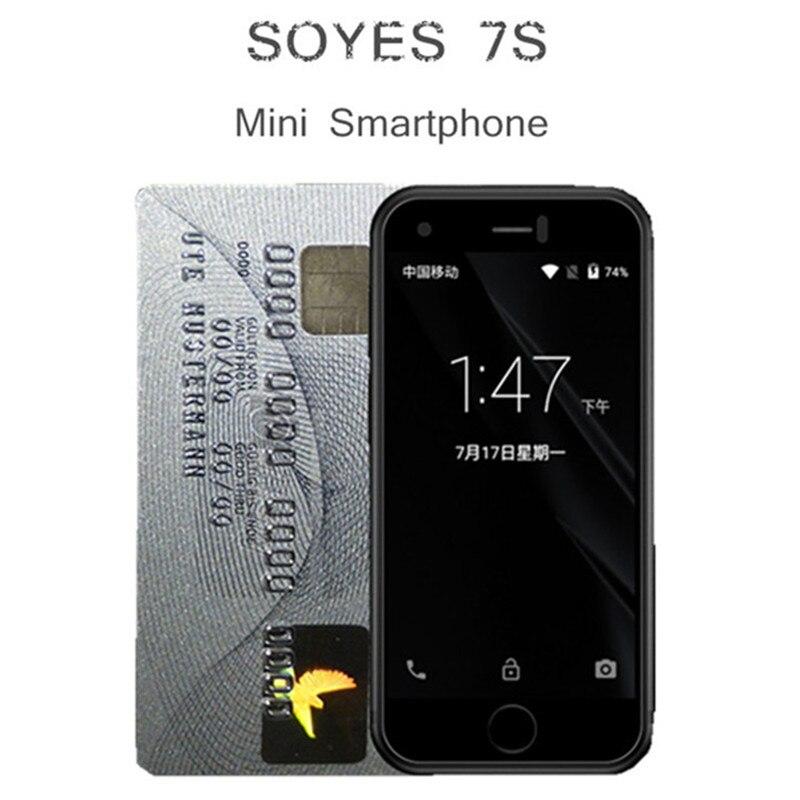 Фото. Оригинальный SOYES 7S Супер Мини смартфон Android Мобильные телефоны четырехъядерный 1 Гб + 8 Гб 5,0