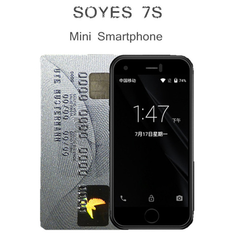 Original SOYES 7S Super Mini Smart Phone Android Mobile Phones Quad Core 1GB+8GB 5.0MP Dual SIM PK XS Melorse K15 2019 S9 Plus