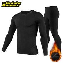 Motosiklet ceket kış Moto ceket + pantolon polar astarlı termal iç çamaşır seti kayak takım elbise kış sıcak giyim erkekler için siyah