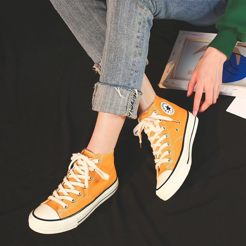 Женская парусиновая обувь; Новинка; белые туфли на плоской подошве со шнуровкой; женская Вулканизированная обувь; женская повседневная обувь; tenis zapatillas mujer K1 41