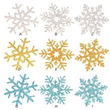 45 шт. 1,6 дюймов Снежинка рождественские украшения для дома для маленьких девочек аксессуары для волос ручной работы головной убор без заколки для волос заколка