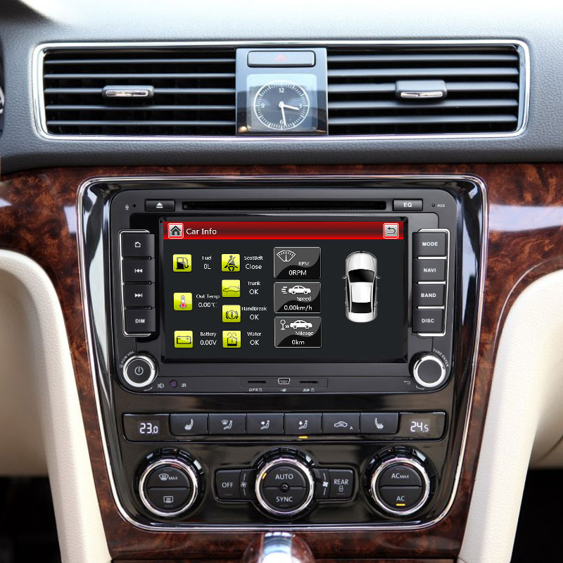 Lecteur DVD voiture 2 Din pour VW Volkswagen Passat b6 b7 amarok Skoda Octavia superbe 2 T5 Golf 5 Polo Seat leon Radio GPS Navigation - 5