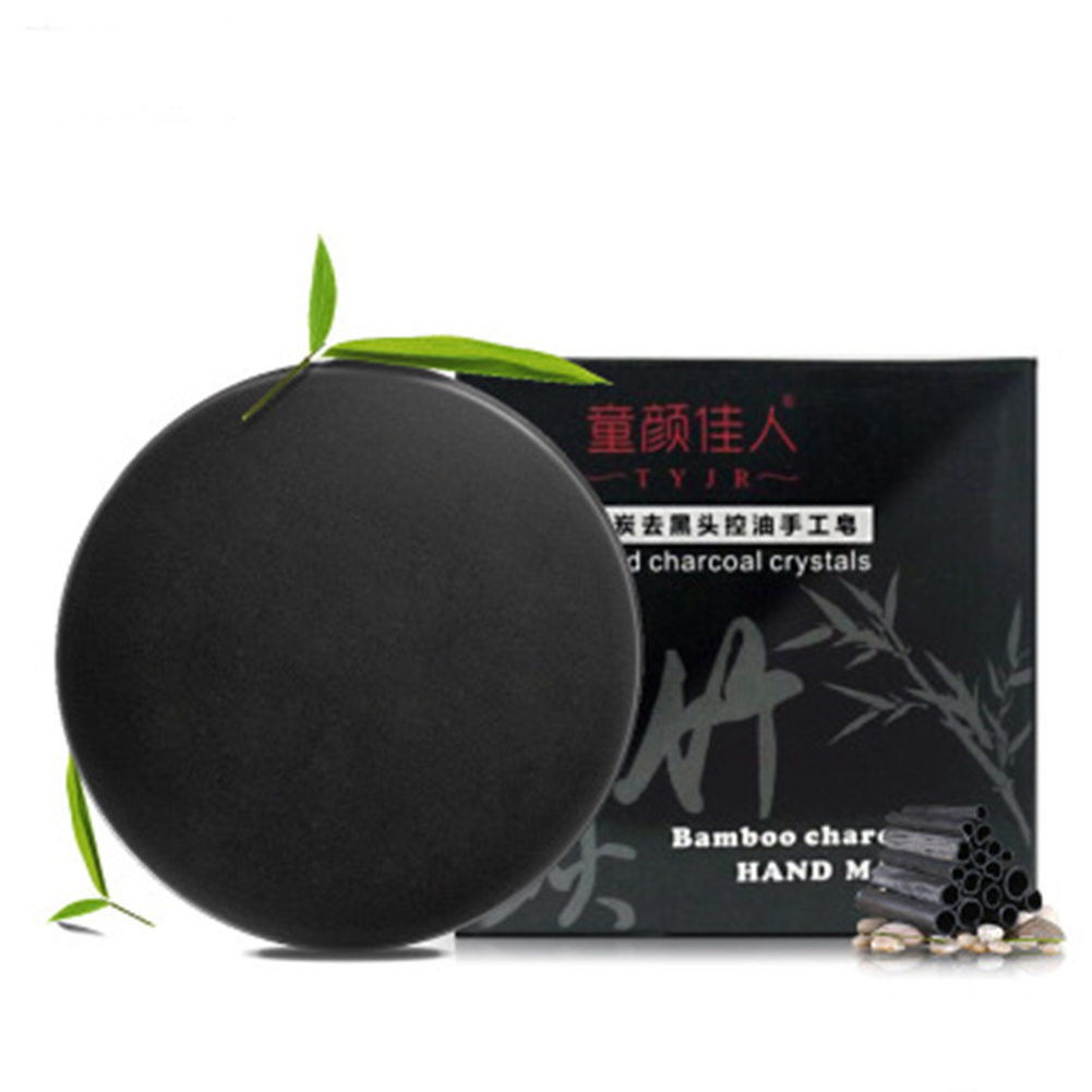 Handmade Soap Bamboo Charcoal Hand Soap Natural Essential Oil Face Care  Oil Control Deep Cleansing Hydrating Soap