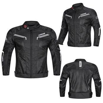 New Brand LYSCHY Summer Motorcycle Jacket Waterproof Breathable Men Motorbike Racing Riding Jacket Jaqueta Motoqueiro Black 4XL