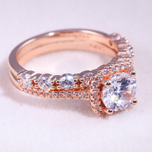 Visisap Fashion Rose Gold Color AAA Zircon Women's Ring Romantic Luxury Full Stone Wedding Rings for Lady Dropshipping B2805 brand new womens luxury special rings romantic rose gold color fashion style ring with aaa cubic zircon stone for wedding