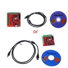 2020 novo cnc usb mach3 100khz breakout placa 4 eixo interface driver controlador de movimento