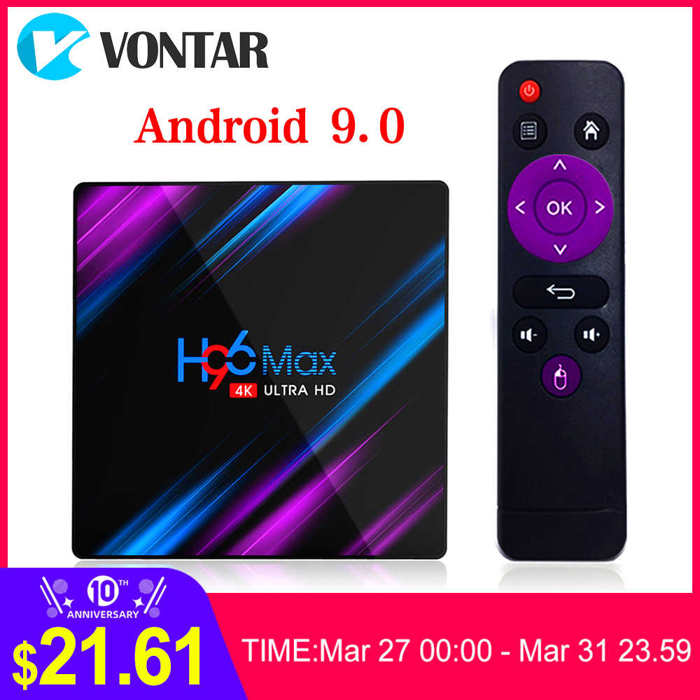 2020 H96 Max RK3318 Smart TV Box Android 9.0 4GB 32GB 64GB Media Player 4K Google asisten Suara Netflix H96MAX Tvbox 2GB16GB