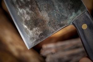Image 3 - XITUO cuchillo de Chef Tang completo, forjado a mano, acero revestido de carbono, cuchillos de cocina, filetear, cortar, cuchillo de carnicero ancho