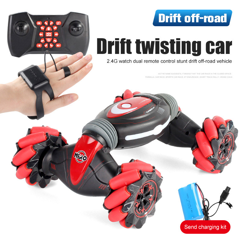 Gesture Induction Car Light Music Drift Dancing Remote Control Stunt Cars Off-Road Vehicle RC Toys For Child Christmas Gift