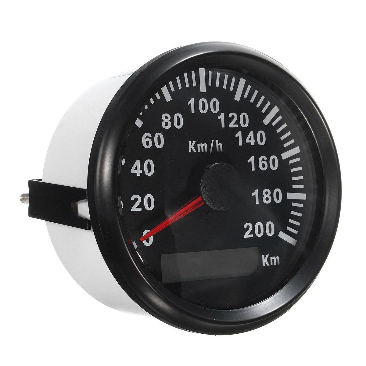 85Mm 200 Km/H Car Motor Auto Stainless Gps Speedometer Waterproof Digital Gauges|Oil Pressure Gauges| |  - title=