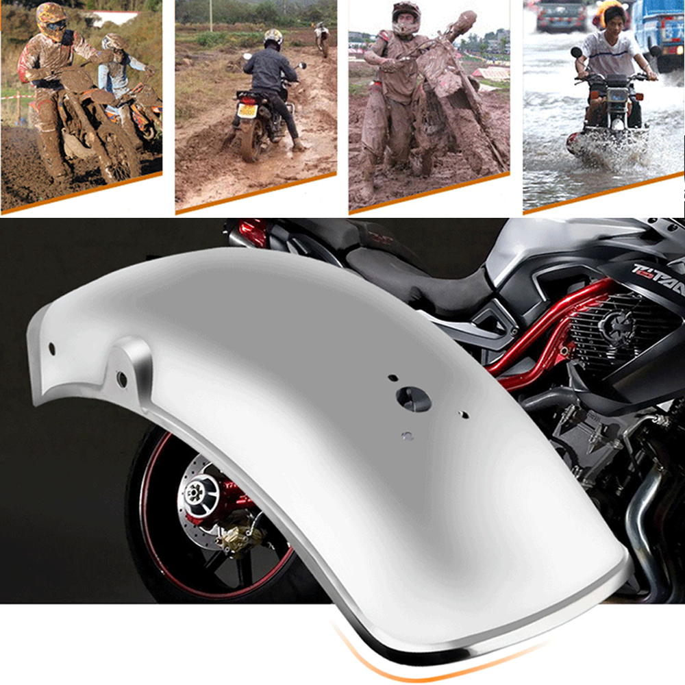 Silver Stainless Steel Motorcycle Rear Fender Mud Flaps Mudguard Splash Guard Fit For Suzuki GN125/GN250 Moto Accessories|  - title=
