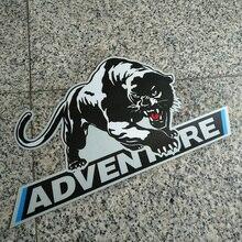 цена на ADV  Adventure Motorcycle Tail Side Box case panniers Luggage Aluminium Stickers Decals For BMW KTM Benelli Suzuki Yamaha Honda