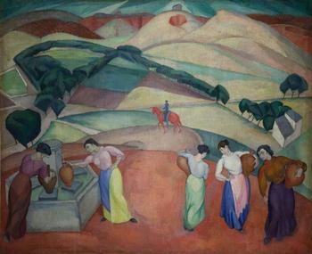 Póster Artístico impreso al óleo sobre lienzo para decoración de pared del hogar de la fuente de Toledo