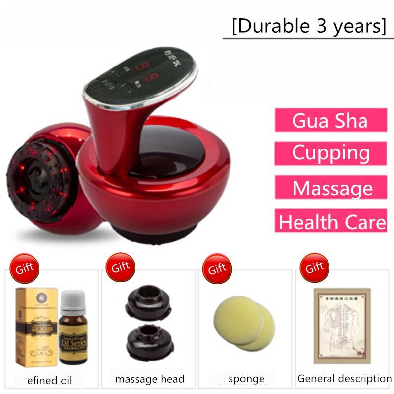 Gua Sha Machine Massage Tool Set TuiNa Cupping Instrument Electric GuaSha Massage Oil Household Beauty Instrument Meridian Brush