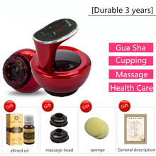 Gua Sha Machine Massage Tool Set TuiNa Cupping Instrument Electric GuaSha Massage Oil Household Beauty Instrument Meridian Brush