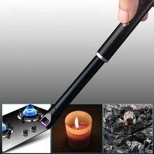 Электронные USB ветрозащитные зажигалки открытая плита для барбекю зажигалка для свечей кухонная горелка Инструмент Плита Зажигалка для свечей кухонная горелка Инструмент